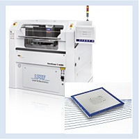 Production line - LPKF laser stencil cutter